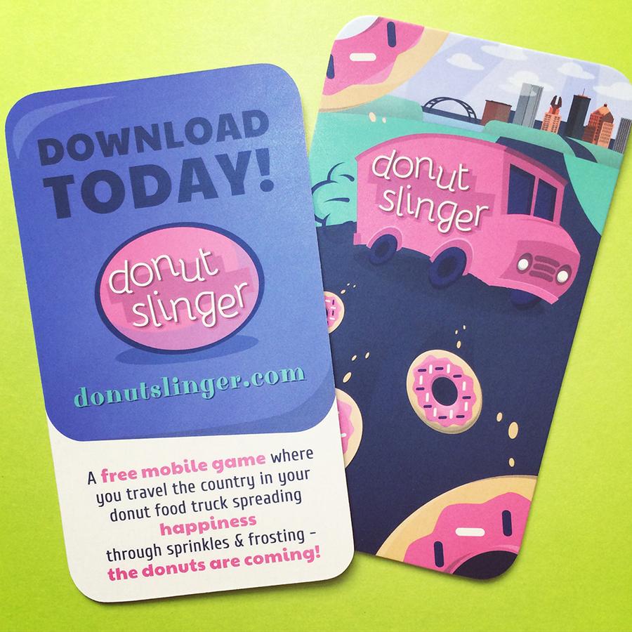 We've got Donut Slinger Download Cards!   Craft Brewed Games